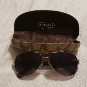 Used Coach Kristina purple aviator glasses